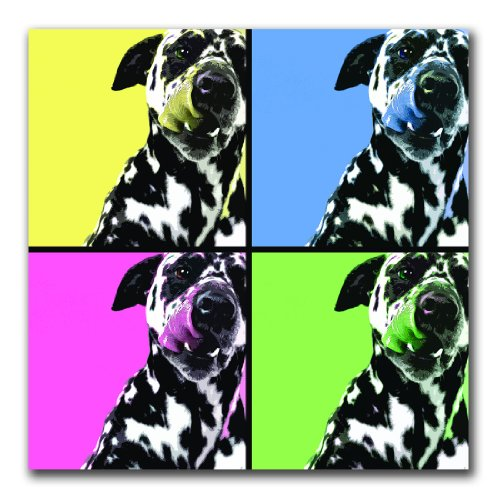 Dalmatians by Gifty Idea Greeting Cards and Such, 24x24-Inch Canvas Wall Art (Gifty Greeting Idea Cards)