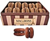 Macarons Chocolate Collection - 9 Chocolate - Caramel and coffee Macarons - The Hard to Share Gift Box