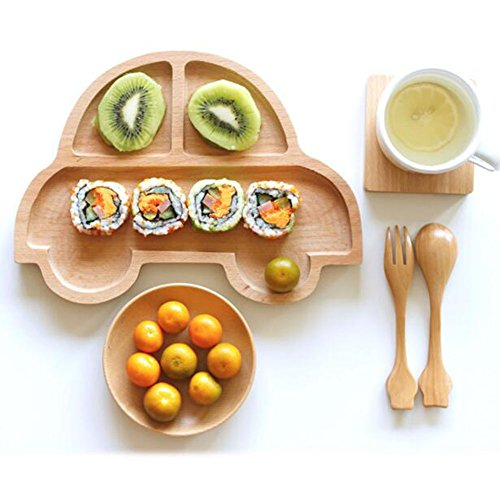 Kids Toddler Divided Plates/Baby Feeding Utensils/Tableware Sets-03 by George Jimmy (Image #1)