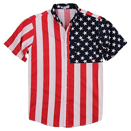 Mens American Flag Button Down Shirt - America Shirt Flag