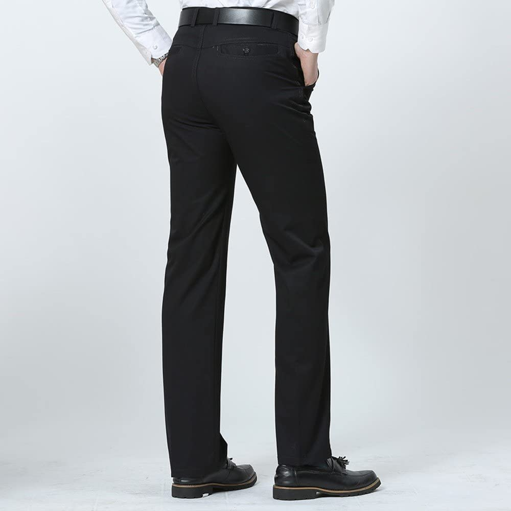 LOKODO Men Casual Comfortable Pants Straight Commercial Affairs Trousers Suit Pants