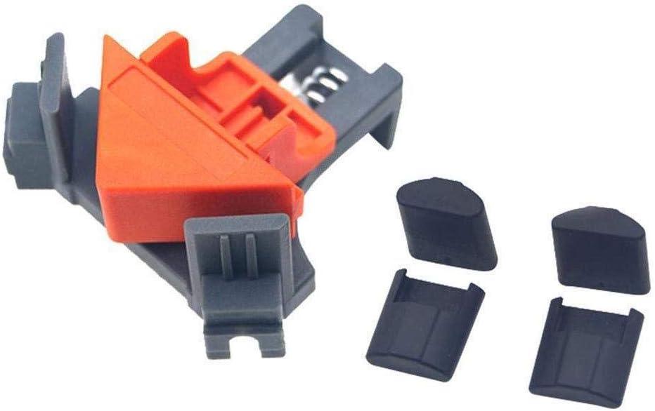 Eckenspanner Set Rechtwinklige Klammer 90 Grad Rechts Winkel Klemme F/ür Holzbearbeitung 4 Winkelspanner zur Fixierung von Brettern /& Rahmen im 90/° Winke