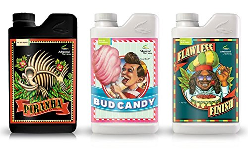 L525251-15ABC Expert Grower Bundle Piranha, Bud Candy, Flawless Finish Plant Fertilizer Booster Enhancer, 4 Liter ()