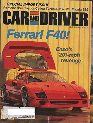 Civic Crx Driver - Car and Driver Magazine, November 1987 (Vol 33, No 5)