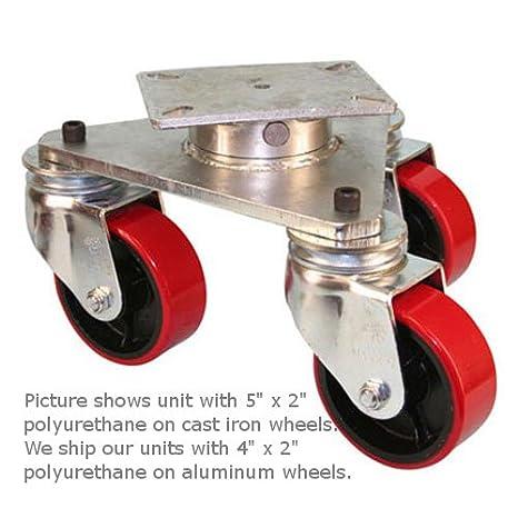 "6/"" x 2/""  apex Polyurethane Caster Wheel 1200 lbs each M.F.G USA"