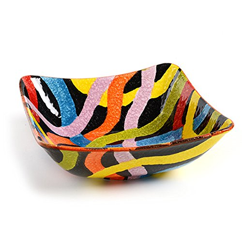 Italian Dinnerware - (1) Large Square Bowl - Handmade in Italy from our POP Nero Collection