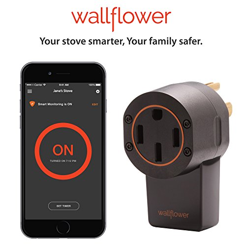 Wallflower Wireless Electric Stove Monitor; Everyone Forgets To Turn Off The Stove But With Wallflower You Can Reduce The Risk Of An Accidental Cooking Fire; Smartphone, WiFi, GeoFencing, Smart. by Wallflower
