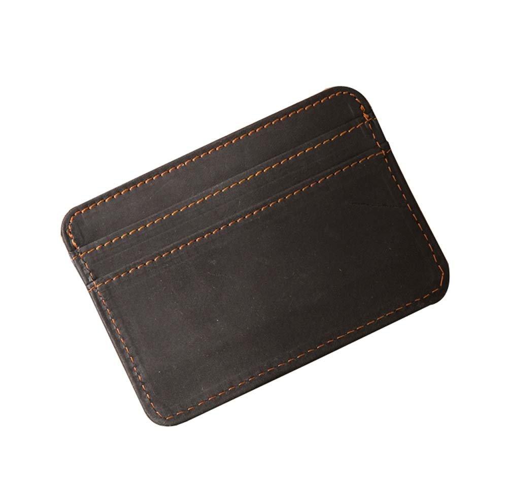 Black Retro Front Pocket Wallet Mini Fashion Credit Card Holder
