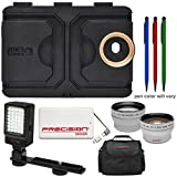 Melamount MM-IPHONE6/6S Video Stabilizer Pro Multimedia Rig for Apple iPhone 6 & 6s with LED Video Light + 5000mAh Power Bank + Case + Telephoto & Wide-Angle Lens Kit