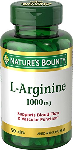 (Nature's Bounty L-Arginine 1000 mg, 50 Tablets)