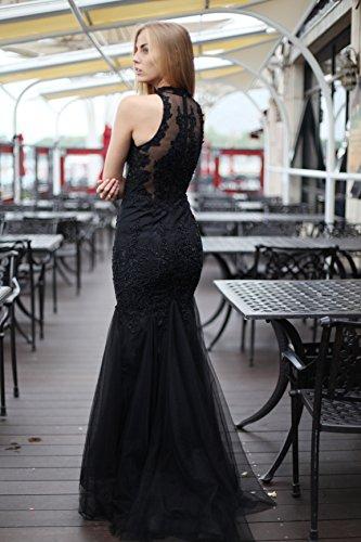 Sarahbridal Damen Bodenlang Mermaid Tuell Abendkleider Perlen ...