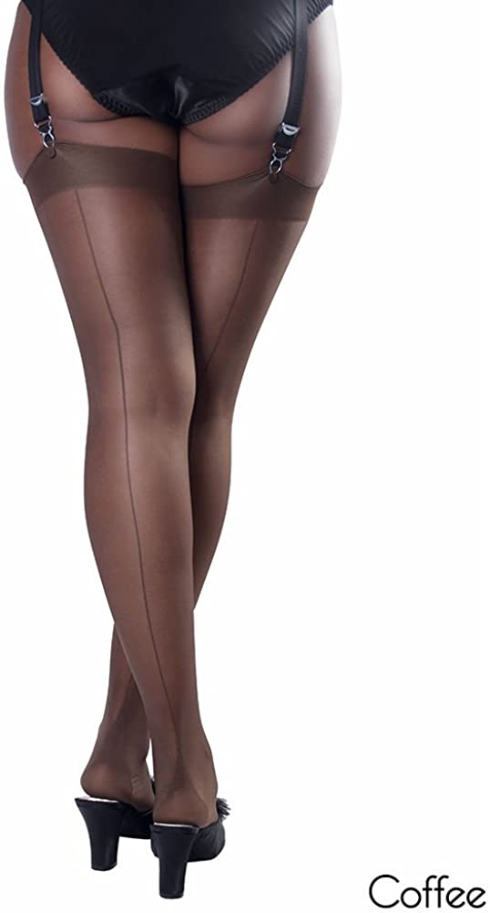1950s Stockings and Nylons History & Shopping Guide What Katie Did Seamed Stockings Glamour Coffee Brown £12.00 AT vintagedancer.com
