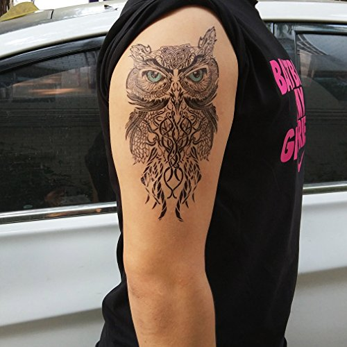 Cokohappy large temporary tattoo owl buy online in uae for Dubai tattoo rules