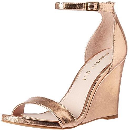 Madden Girl Women's WILLOOW Wedge Sandal, Rose Gold, 6 M US