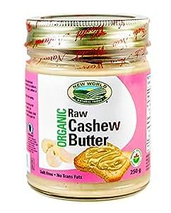 New World Foods Cashew Butter Raw Organic 250g