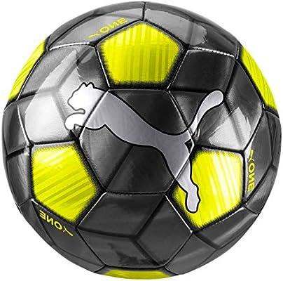 PUMA One Strap Ball Balón de Fútbol, Adultos Unisex, Black-Yellow ...