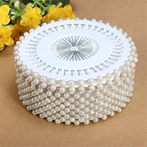 Pins Sewing - Pins For Sewing - 35mm 480Pcs White Round Head Dressmaking Pearl Decorating Sewing Pin Craft For Home Garden DIY Crafts Tool Accessorie - Sewing Pin