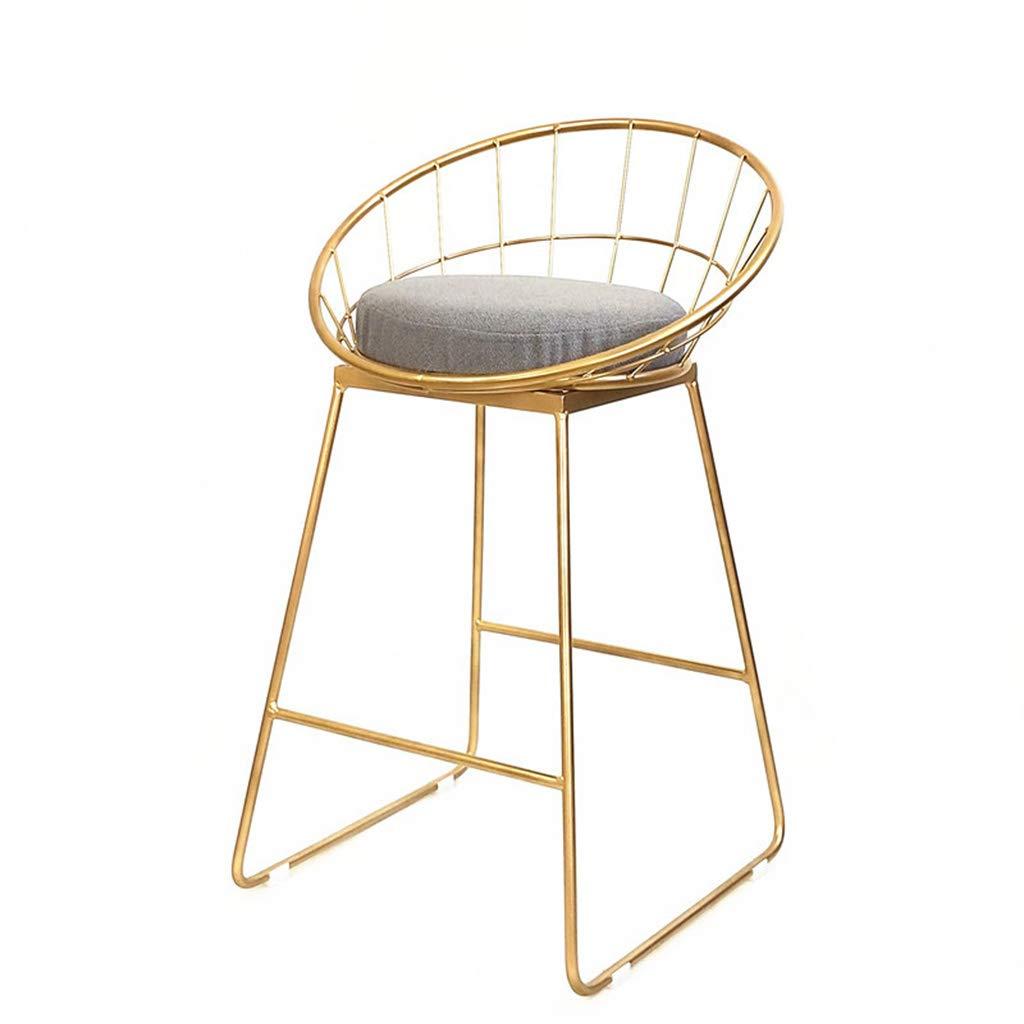 アイアンバースツール、モダンバーチェア、金色の 布のマットと鍛造の足場、カウンターに適した、キッチンの朝食用バー、座りの高さ45/65 / 75cm 強い軸受け容量 (サイズ さいず : Sitting height45cm) B07MQRTZGD  Sitting height45cm