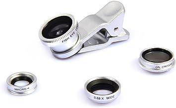 Tobeape Universal 4 in 1 iPhone Camera Lens Kit Clip on Fish Eye ...
