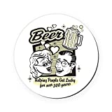 Round Coaster (Set of 4) Beer: Helping People Get Lucky