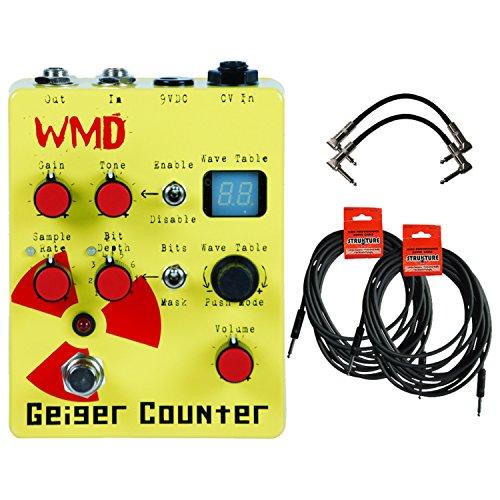 WMD Geiger Counter - Digital Destruction Preamp Distortion Pedal w/ 4 Cables