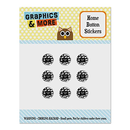 (Because Cats Funny Kitties Lounging Around Set of 9 Puffy Bubble Home Button Stickers Fit Apple iPod Touch, iPad Air Mini, iPhone 5/5c/5s 6/6s 7/7s Plus)