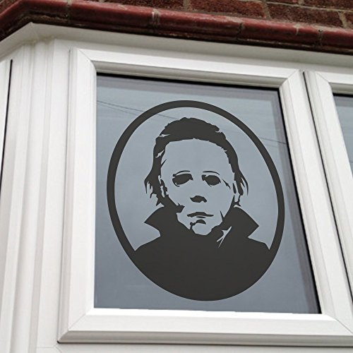 [MairGwall Michael Myers Halloween Amok Vinyl Wall Decal Sticker Home D¡§ cor (Black, Small)] (P Party Costume Suggestions)