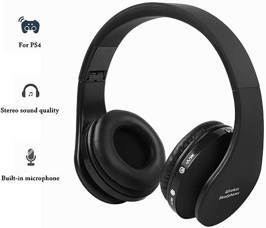 Auriculares Inalámbricos Bluetooth Auriculares estéreo de Diadema de alta fidelidad con receptor para consola PS4 u otros dispositivos Bluetooth funciona hasta 12 horas mini orificio de carga USB: Amazon.es: Electrónica