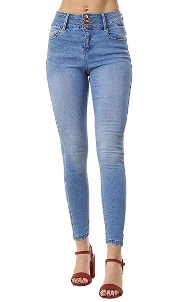 ex UK Store Pantalones Vaqueros elásticos para Mujer - Largo ...