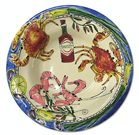 Home ETC Seafood Buffet Tabasco Pasta Bowl  sc 1 st  Amazon.com & Amazon.com | Home ETC Seafood Buffet Tabasco Pasta Bowl: Gumbo Bowls ...