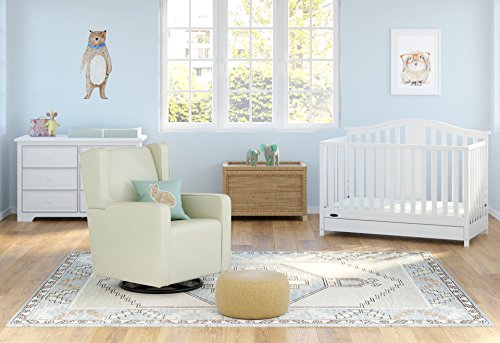 51G0ak6EXBL - Graco Solano 4-in-1 Convertible Crib With Drawer, White, Easily Converts To Toddler Bed Day Bed Or Full Bed, Three Position Adjustable Height Mattress, Some Assembly Required (Mattress Not Included)
