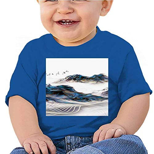 Toddler T-Shirts Abstract Beautiful Pattern (17) Outfit Set Blue -