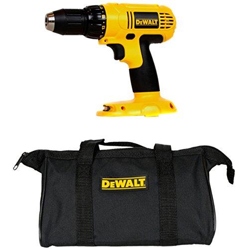 "Dewalt DC970 18-Volt Cordless 1/2-Inch Drill Driver (Tool Only) + 12"" Black DeWALT Mini Tool Bag"