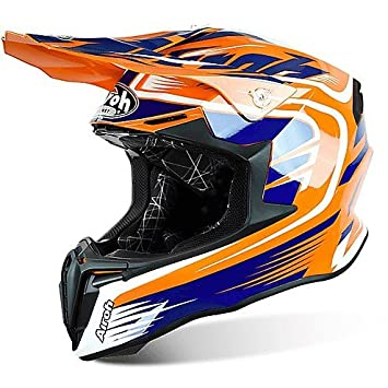Casco Moto Cross Enduro Airoh Twist Mix Naranja Brillante Large