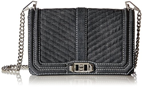 Rebecca Minkoff Chevron Quilted Love Crossbody, Dark Denim