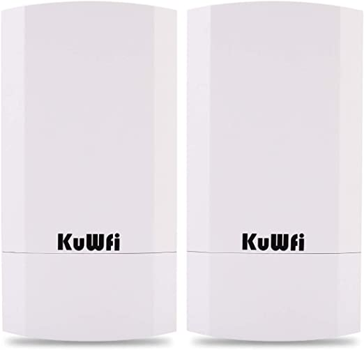 Amazon.com: KuWFi 2-Pack 300Mbps Wireless Outdoor CPE Kit Point-to-Point Wireless Access Point 2.4G WiFi Bridge Supports 1KM Transmission Distance Solution for PTP/PTMP (Pre-Program): Electronics