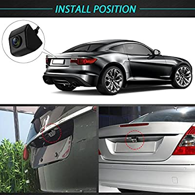 LeeKooLuu HD 720P Backup Camera for Cars/Trucks/ATVs/SUVs/UTVs Side View Camera Hitch Rear View Camera DIY Guide Lines IP69 Waterproof Night Vision : Camera & Photo