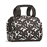 Fit & Fresh Charlotte Insulated Lunch Bag with Ice Pack, Black and White