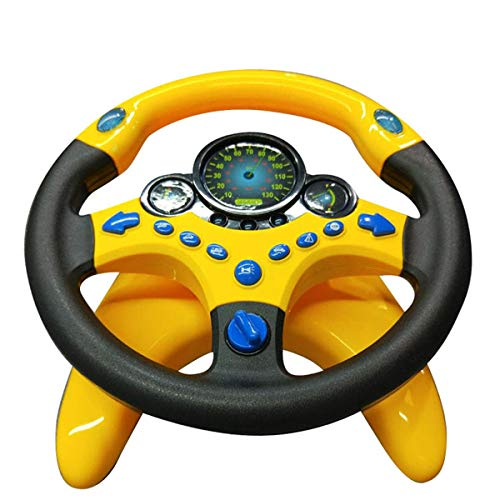 Co-Pilot Toy Steering Wheel with Lights Music - Ins,Tiktok Funny Interactive Driving Wheel for Passenger, Kids 2 Years +