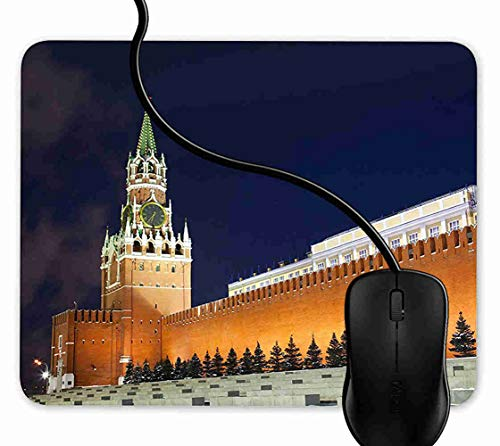 (Mouse Pad Gaming Spasskaya Tower of Kremlin,9.25X7.75 inch Non-Slip Rubber Mousepad Mat for Desktops, Computer, PC and Laptops 1F774 )