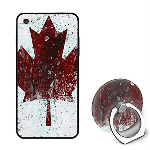 Canada Flag Splatter iPhone 6 / 6s Case Ultra Light Slim Fit Anti Scratch Fingerprint Premium with -