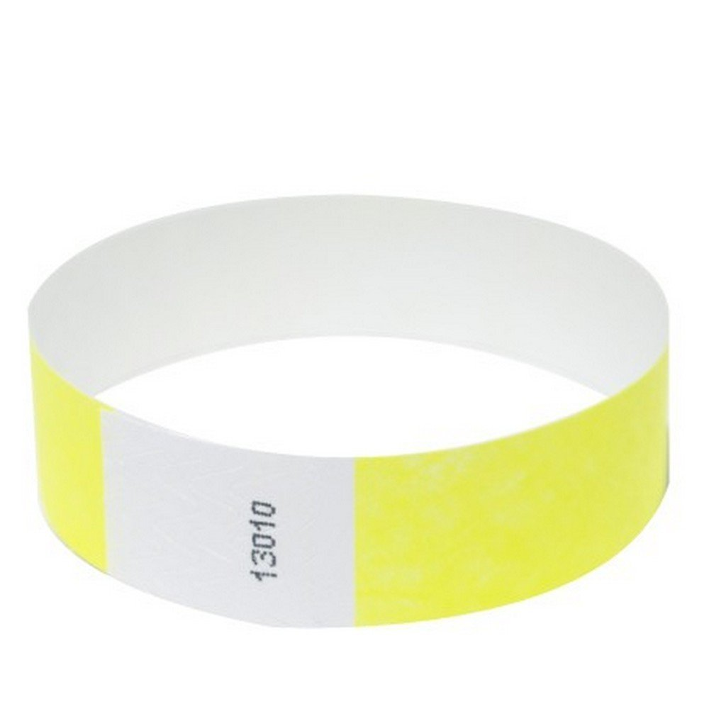 Tyvek wristbands, sequentially numbered, security events pack of 1000 (sky blue, 19mm*254mm)