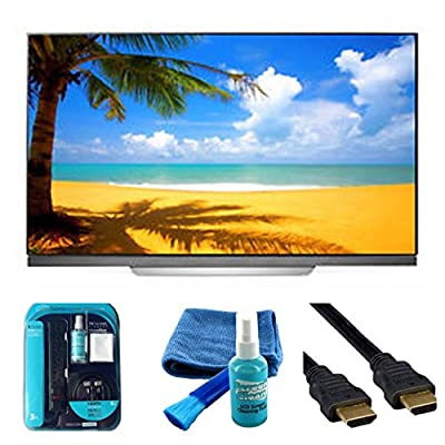 2017 Model C7 O LED 65C7P Series 65-Inch 4K Ultra High Definition HDR TV - Surge, HDMI 6ft Cable, Cleaning Kit