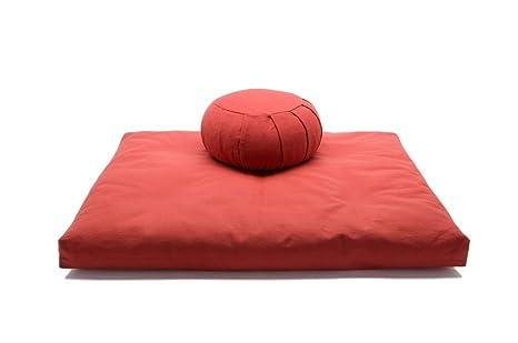 Cinnamon Kapok Zafu & Cotton Zabuton Meditation Cushion Yoga Pillow 2 pc Set