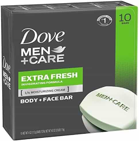 Dove Men+Care Body and Face Bar, Extra Fresh 4 oz, 10 Bar