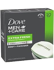 Dove Men+Care Body and Face Bar, Extra Fresh 4 oz, 10...