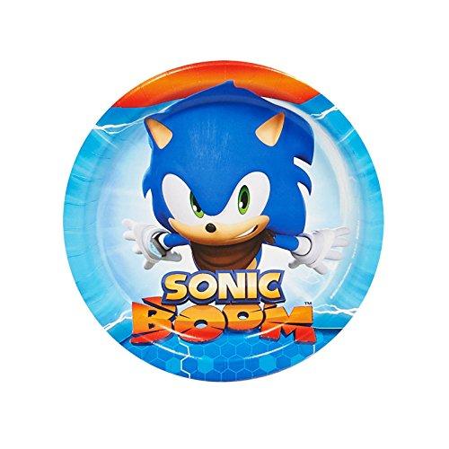 BirthdayExpress Sonic Boom Party Supplies - Dessert Plates