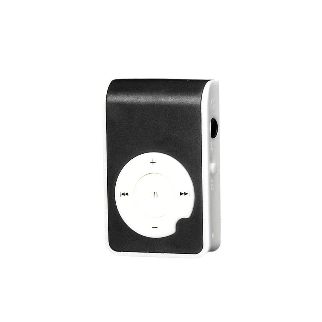 Start Sport Relax Mini Clip Protable USB MP3 Player Support Micro SD TF Card Music Media-Black