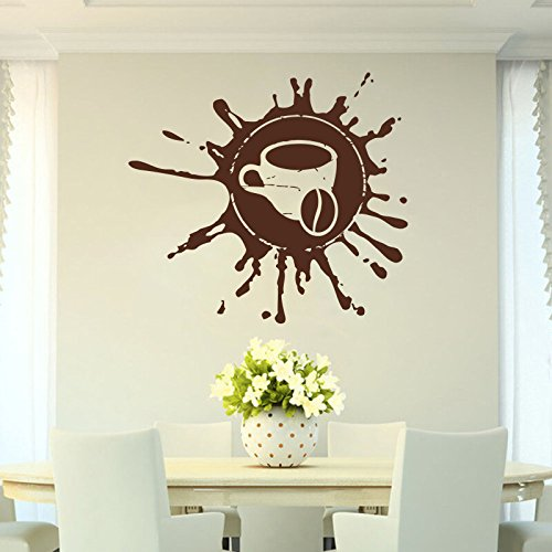 (Coffee, drink, cappuccino, hot drink, grains, cafe,Food, Wall Decal Window Sticker Handmade 1701)
