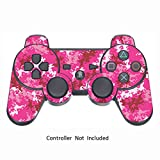 Cheap Skin Stickers for Playstation 3 Controller – Vinyl High Gloss Sticker for DualShock 3 Wireless Game PS3 Controllers – Protectors Controller Decal – Digicamo Pink [ Controller Not Included ]
